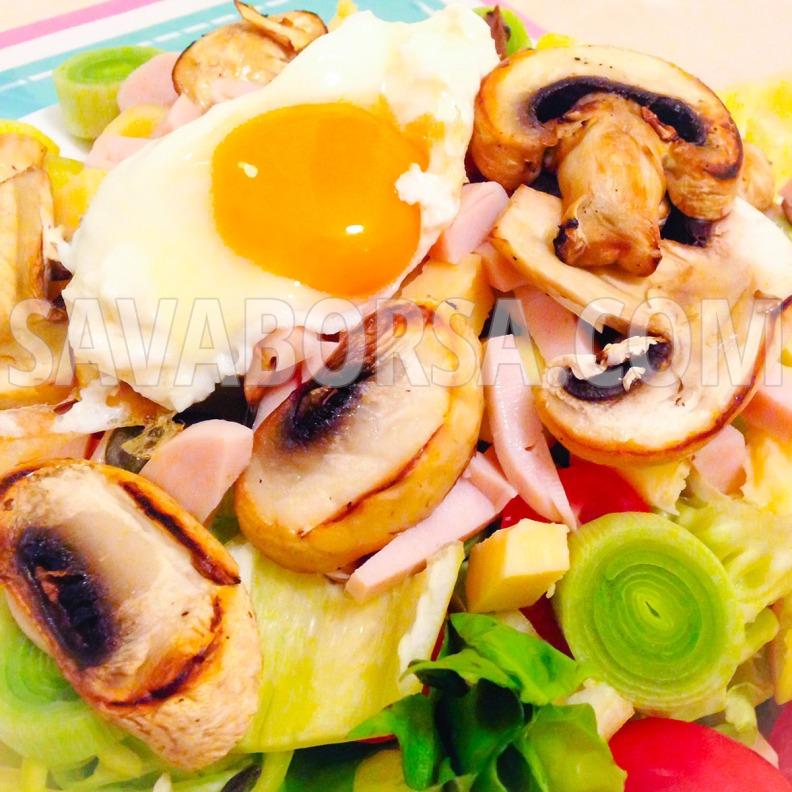 gombas-tojasos-salata-csirkemellsonkaval