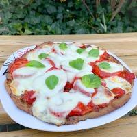 Margarita pizza (teljes kiőrlésű, rozsos) élesztő nélkül