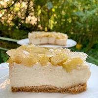 Almás-fahéjas sajttorta sütés nélkül